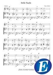 Stille Nacht Noten Stimme und Klavier Encore